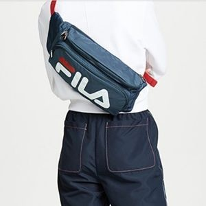Fila navy and red sling sack /fanny pack XL